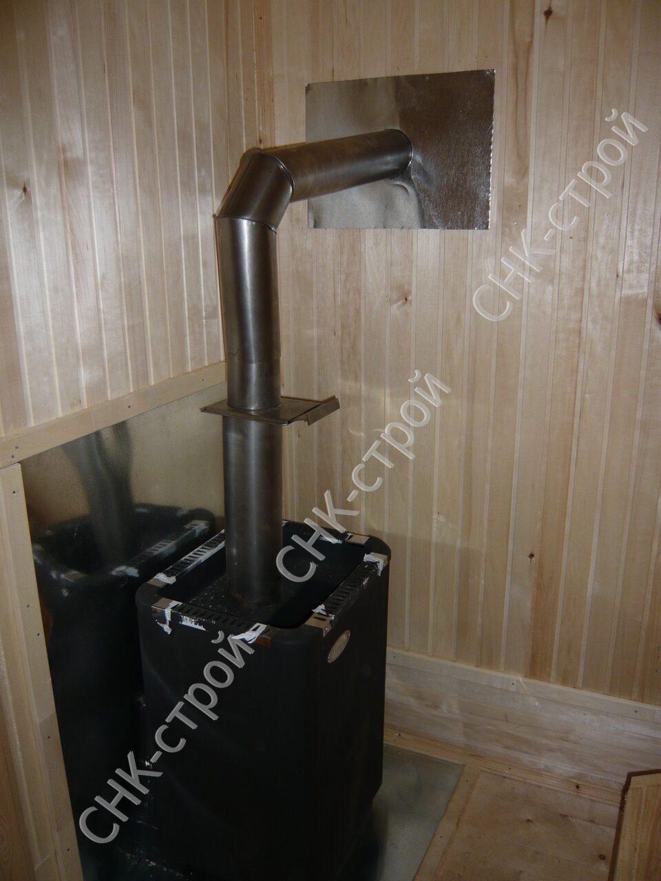 Как правильно сделать трубу в бане в стене